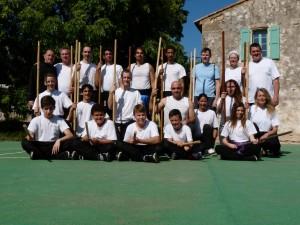 Les Stagiaires en compagnie des deux intervenants JMarie Portos et JMarc Guibilato (en haut à G)