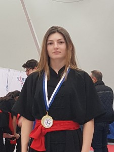 Loreleï Gremont Championne Interrégionale en Technique Traditionnelle Cadette
